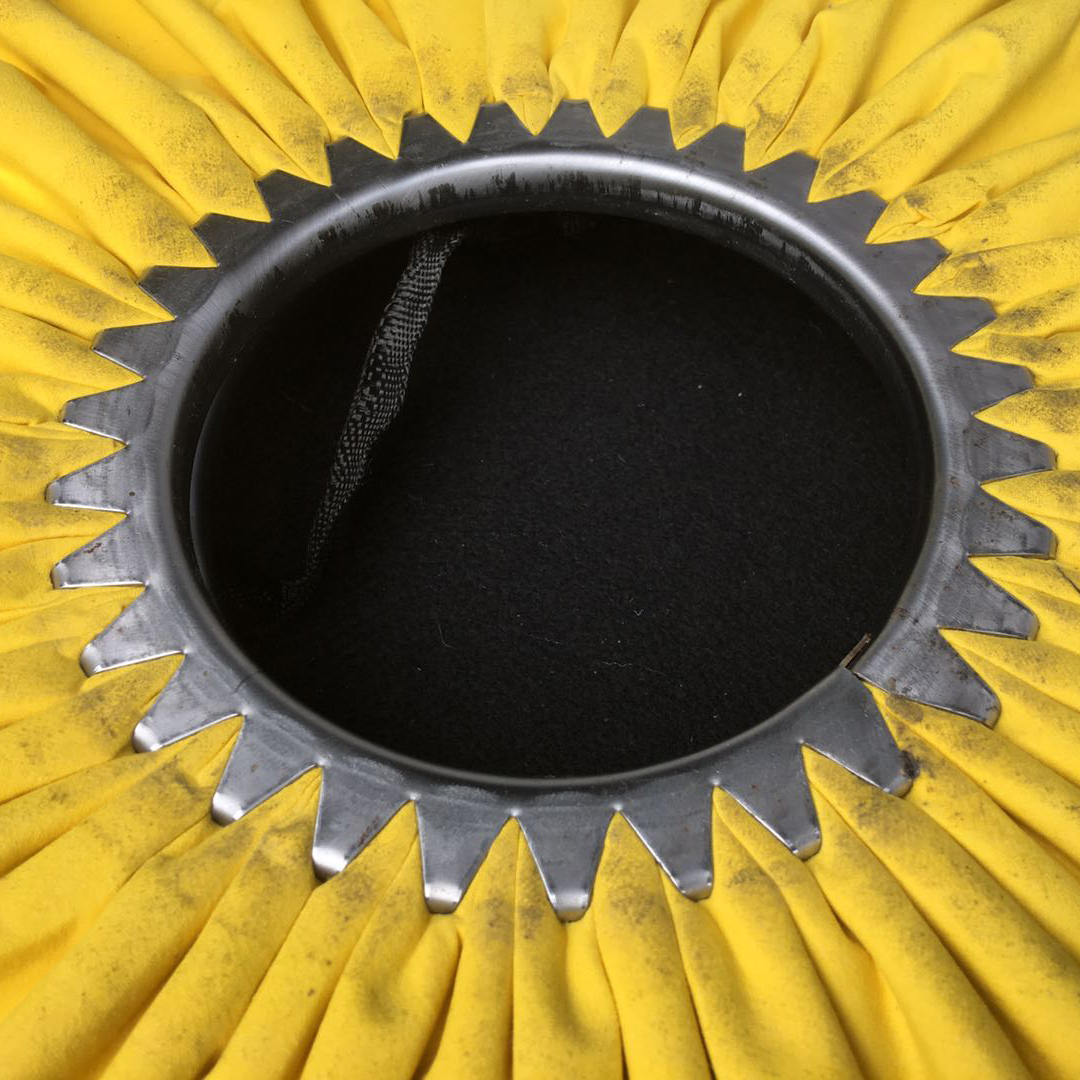Yellow Treated Fabric Cloth for Buffing Wheel